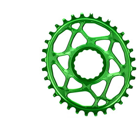 absoluteBLACK Oval Chainring Spiderless Boost148 for Race Face Cinch froggy green